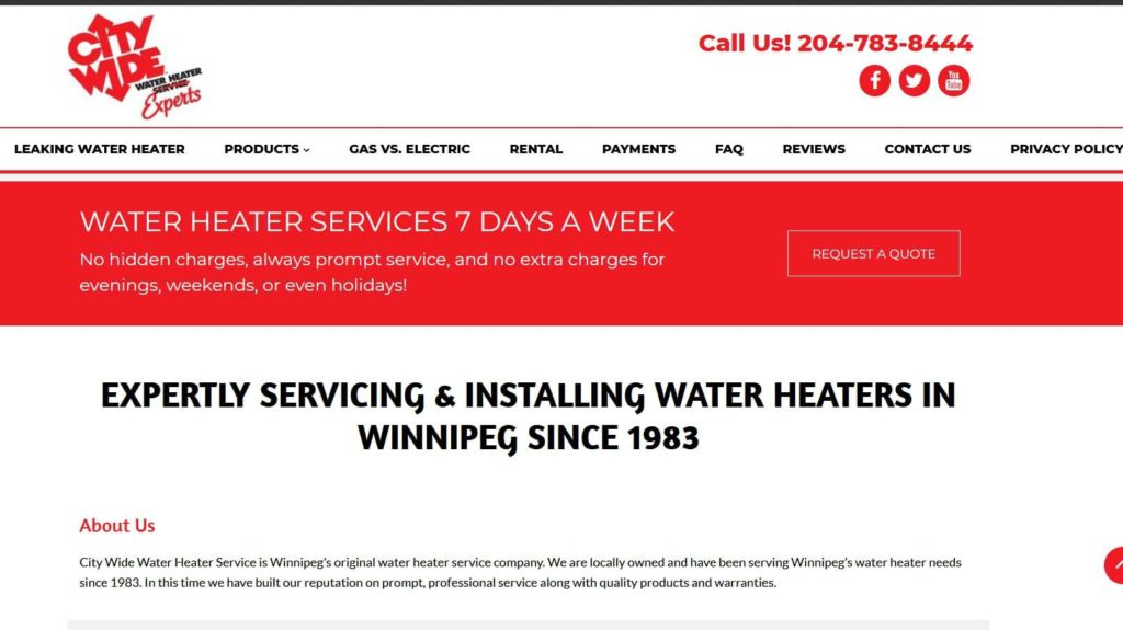 City Wide Water Heater Service's Homepage
